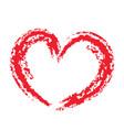 grunge brush strokes outlines valentine heart vector image