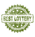 grunge textured best lottery stamp seal vector image