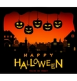 Halloween design pumpkins and houses Horror vector image