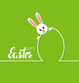 happy easter cards with rabbit vector image vector image