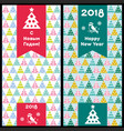 happy new year and merry christmas 2018 15 vector image