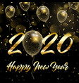 happy new year background with gold glittery vector image vector image