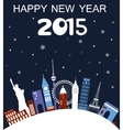 Happy New Year Travel card vector image vector image