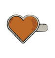 heart hairpin vector image vector image