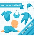It is a boy Baby shower invitation vector image vector image