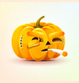jack-o-lantern terrible facial expression of vector image vector image