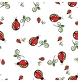 Ladybug White Pattern vector image vector image