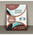 layout design business brochure vector image vector image