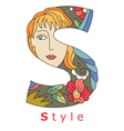 letter S style vector image vector image