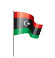 libya flag on a white vector image