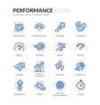 Line Performance Icons vector image