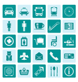 One tone Airport travel and transportation vector image vector image