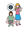 people tech device vector image vector image
