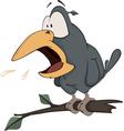 Raven cartoon vector image