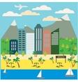Resort Town Landscape vector image