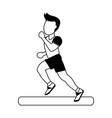running man avatar sideview icon image vector image vector image