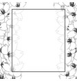 sakura cherry blossom outline banner card border vector image