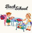 school dinner poster vector image vector image