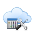 Screwdriver spanner and cloud vector image vector image