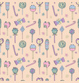 seamless pattern lollipops vector image vector image