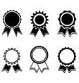 set medals icons with ribbon vector image