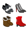 shoes footwear boots fashion body object vector image
