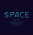 space font trendy typography vector image