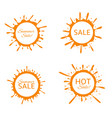 summer sale label set vector image vector image