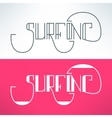 surf vintage lettering design background vector image vector image