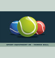 tennis ball icon game equipment professional vector image