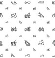 tractor icons pattern seamless white background vector image vector image