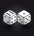 two dices in the isometric third dimension vector image
