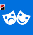 two theatrical masks vector image