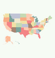 vintage colorful usa map vector image