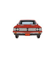 vintage hand drawn muscle car retro red car vector image