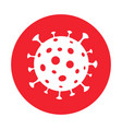virus covid-19 caution coronavirus icon flat web vector image vector image