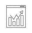 website network finance chart bar graph statistics vector image vector image