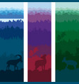 wild animals vertical banners vector image vector image