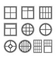 window icon set symbol vector image