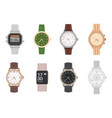 wrist watch mens and womens mechanical digital vector image vector image