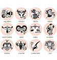 zodiac symbols vector image vector image