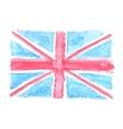 Watercolor British Flag UK United Kingdom vector image