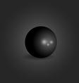 Ball 3d black design element graphic geometric vector image