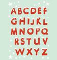 Snowy Christmas Alphabet vector image