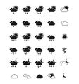 Weather icon set eps10 vector image