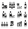 Alternative investments - investing money in wine vector image vector image