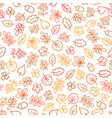 autumn leaves seamless pattern leaf icon set vector image vector image