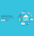 banking and finance economy investment and payment vector image vector image