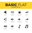 basic set icons vector image vector image