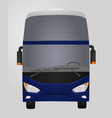 blue luxury bus front side vector image vector image